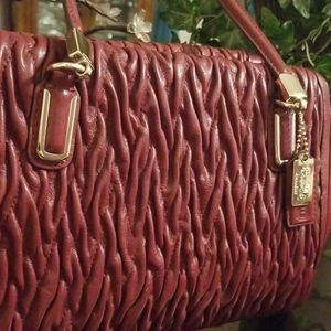 Coach Madison Gathered Twist Leather Small Madelin